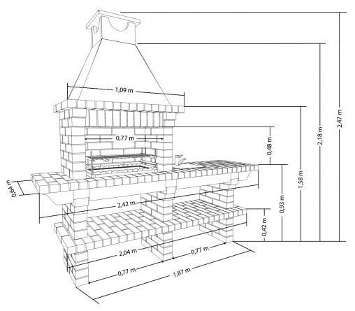 Барбекю печь чертеж электрокамин оптимист кавендиш